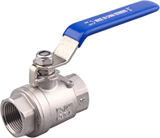 DERNORD Full Port Ball Valve Stainless Steel 304 Heavy Duty for Water, Oil, and Gas with Blue Locking Handles (3/4