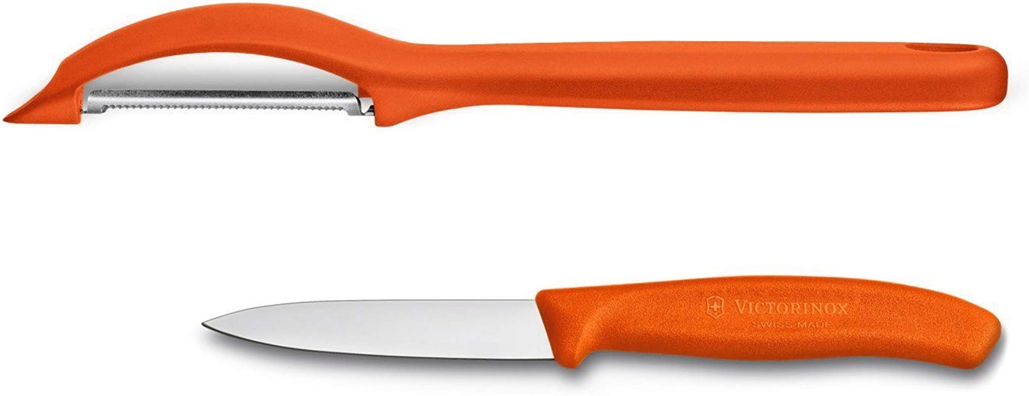 Victorinox VIC 7 6075 7606 9US1 Swiss Classic Pillow Packs Serrated Peeler 3 Paring Orange