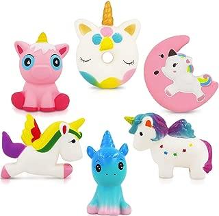 Unicorn Squishy Toys Squishies - 6 Pack Unicorn Squishies Jumbo Horse Kawaii Soft Slow Rising Scented Animal Squishies Pack Unicorn Gifts for Girls Galaxy Squishy Unicorn Birthday Party Supplies