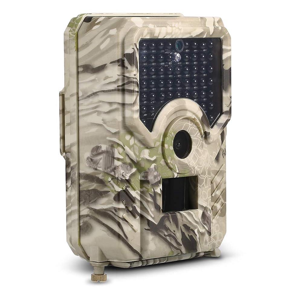 アミューズのど寛大なLIXADA 12MP 1080P トレイルカメラ ハンティングゲームカメラ PIRセンサー付き 赤外線 ナイトビジョン IP56 防水 アウトドア 野生動物 偵察用