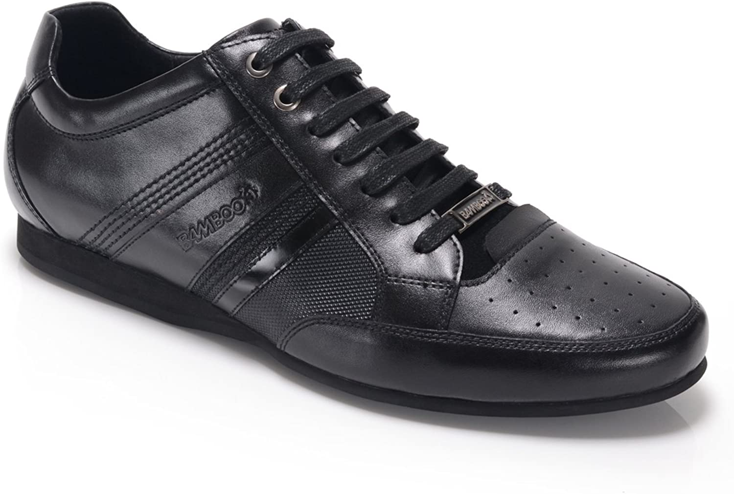 Bambooa Asti Quality Black Leather Mens Designer Casual shoes Trainers