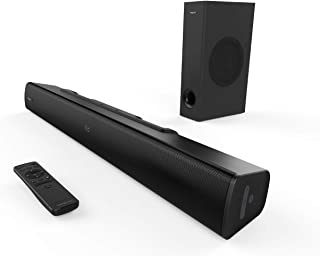 Creative Stage V2 2.1 Soundbar met subwoofer, Clear Dialog en Surround by Sound Blaster, Bluetooth 5.0, TV ARC, optisch, U...