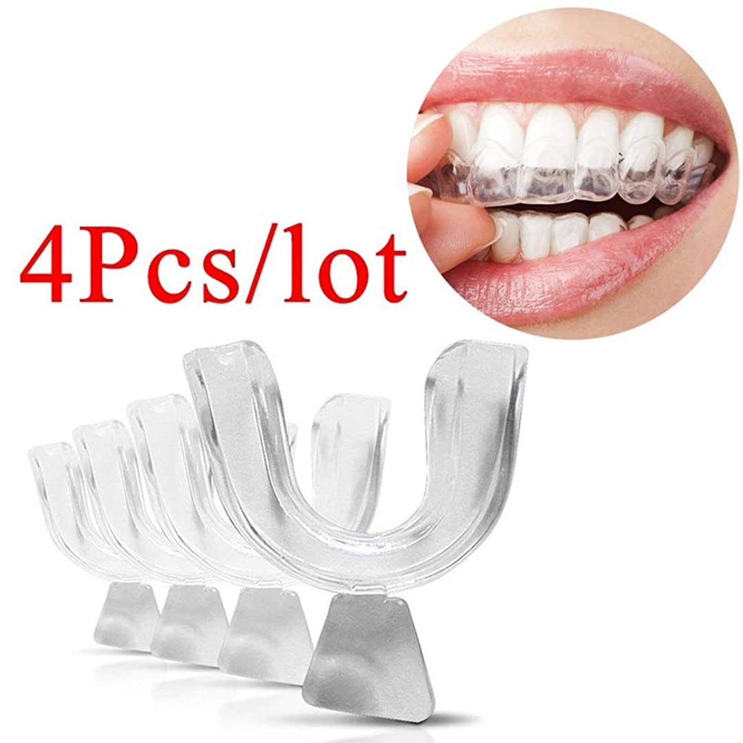 脳宝石あさり透明な食品等級を白くする安全な口の皿のMoldable歯科用歯の口の歯,4Pcs
