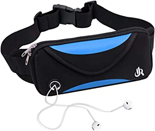 Y&R Direct Fanny Packs Running Belt Pouch Waist Bag Workout Belt for Apple iPhone XR XS 8 X 7+ Samsung Note Galaxy Running Walking Cycling Gym-05BK