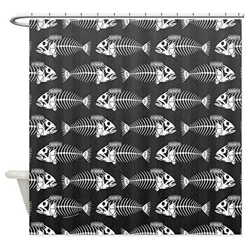 dsgrdhrty CafePress Fishbone Dark Decoration Badezimmer Duschvorhang dekorativen Stil wasserdicht 180x180