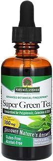 Nature's Answer Alcohol-Free Super Green Tea, 2-Fluid Ounces Gluten Free, Kosher Botanical Energizer | Natural Fat Burner ...