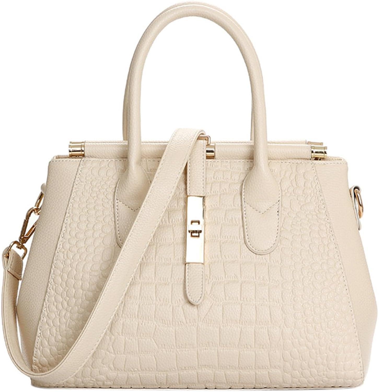 Yiding Women Top-handle Fashion Bag Genuine Leather Handbags Casual Single-shoulder Crossbody Large Bags