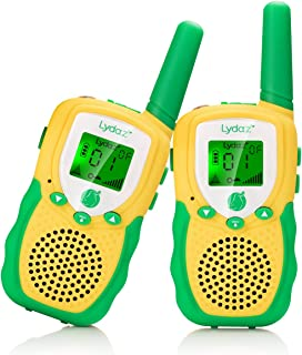 Lydaz Walkie Talkies for Kids, 22 Channels 2 Way Radio 3 Miles Range Long Distance with 2 Inch Backlit LCD Flashlight Toys for Kids Boys Girls Age 3 4 5 6 7 8 9 Outdoor Adventures Camping