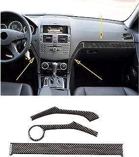 Sticker,Carbon Fiber Gear Shift Panel Trim for Mercedes-Benz W204 Old C-class Old E-class Left Driving Right Car Modificatio n Interior Accessory
