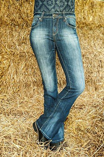 HKM Erwachsene Jeans bootcut-Florida-6100 jeansblau38 Hose, 6100 Jeansblau, 38