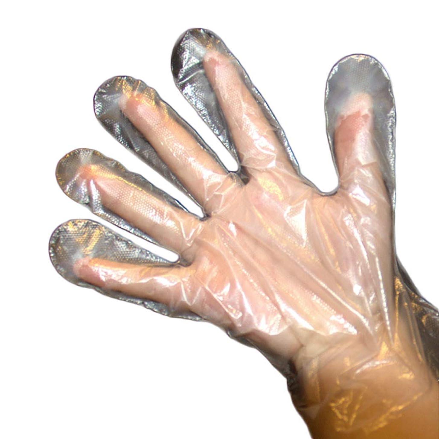 自分自身飢饉ピアノを弾くロブスターの厚い世帯の手袋、滑り止めの透明な防水耐油性の汚れ防止の滴りを食べる使い捨て可能なPe手袋 YANW