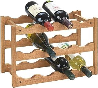 WENKO Étagère à vin Norway - pour 12 bouteilles, Bois de noyer, 42 x 28 x 21 cm, Noix
