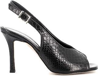 Pierfrancesco Vincenti Sandali pitonati con Tacco a Spillo - Scarpe Donna Made in Italy Colore Nero