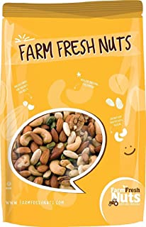 Dry Roasted Deluxe Mixed Nuts with Himalayan Salt (2 Lbs) - A Super Tasty Mix of Almonds, Brazil Nuts, Cashews, Pecans & P...