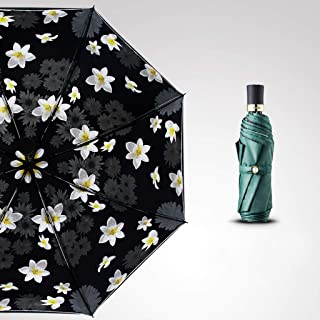 Household Umbrellas Sun Protection UV Protection Simple Umbrellas Folding Rain and Rain Two Umbrellas Three Styles Available Huhero (Color : Green)