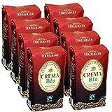 Tempelmann`s Crema Bio, 1000g ganze Bohne 8er Pack