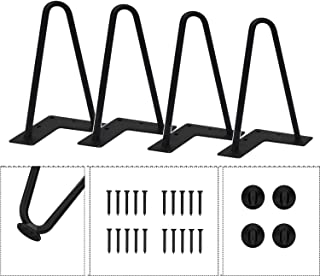 Agoland 8 Inch Black Hairpin Legs (4pcs), Heavy-Duty Metal Furniture Legs, Mid-Century Modern Furniture Legs, Coffee Table Legs, 4 Washers and 20 Screws Easy to Install (8 Inch)