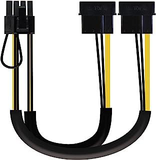 NANOCABLE 10.19.1201 - Cable de alimentación para Tarjeta gráfica 2xMOLEX 4pin/M a PCI-E(MOLEX 6+2pin)/M, 20cm