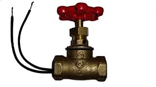 SW- 1/2 INCH RED HAND EASY INSTALL - VINTAGE STEAMPUNK STOP VALVE LIGHT SWITCH FOR STEAMPUNK LAMPS BRASSS