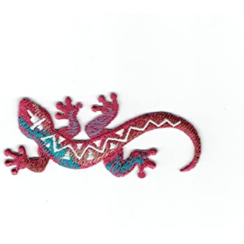 "Reptile Badge 3/"" Iron on Southwest Lizard Applique Patch"