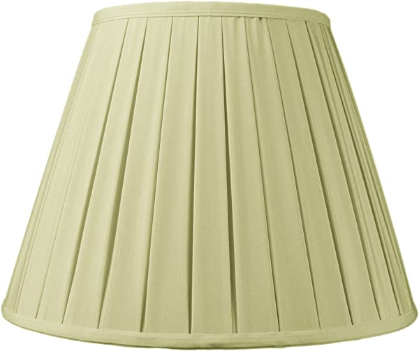 9x16x12 Empire Box Pleat Lampshade Eggshell With Brass Spider Fitter By Home Concept Perfect For Table And Floor Lamps Large Egg Shell