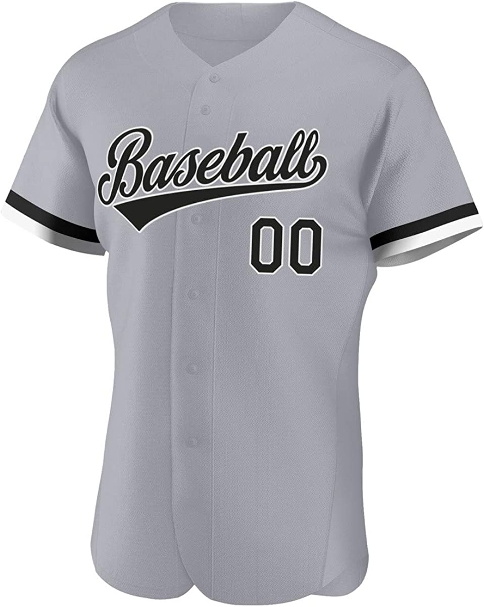 Custom Baseball Jerseys for Opening large release Tulsa Mall sale Men Button Hip Hop Down T Hipster Sh