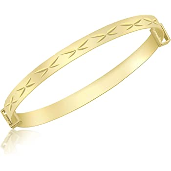 Fate Love Jewellery Yellow Gold Plated Smooth Torque Bangle Bracelet Excellent