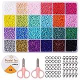 Cuentas para Collares Cuentas de Colores 2 mm Bolitas para Hacer Collares Pulseras Regalo para Niños 24 Colores Brillantes (2mm 24 colores)