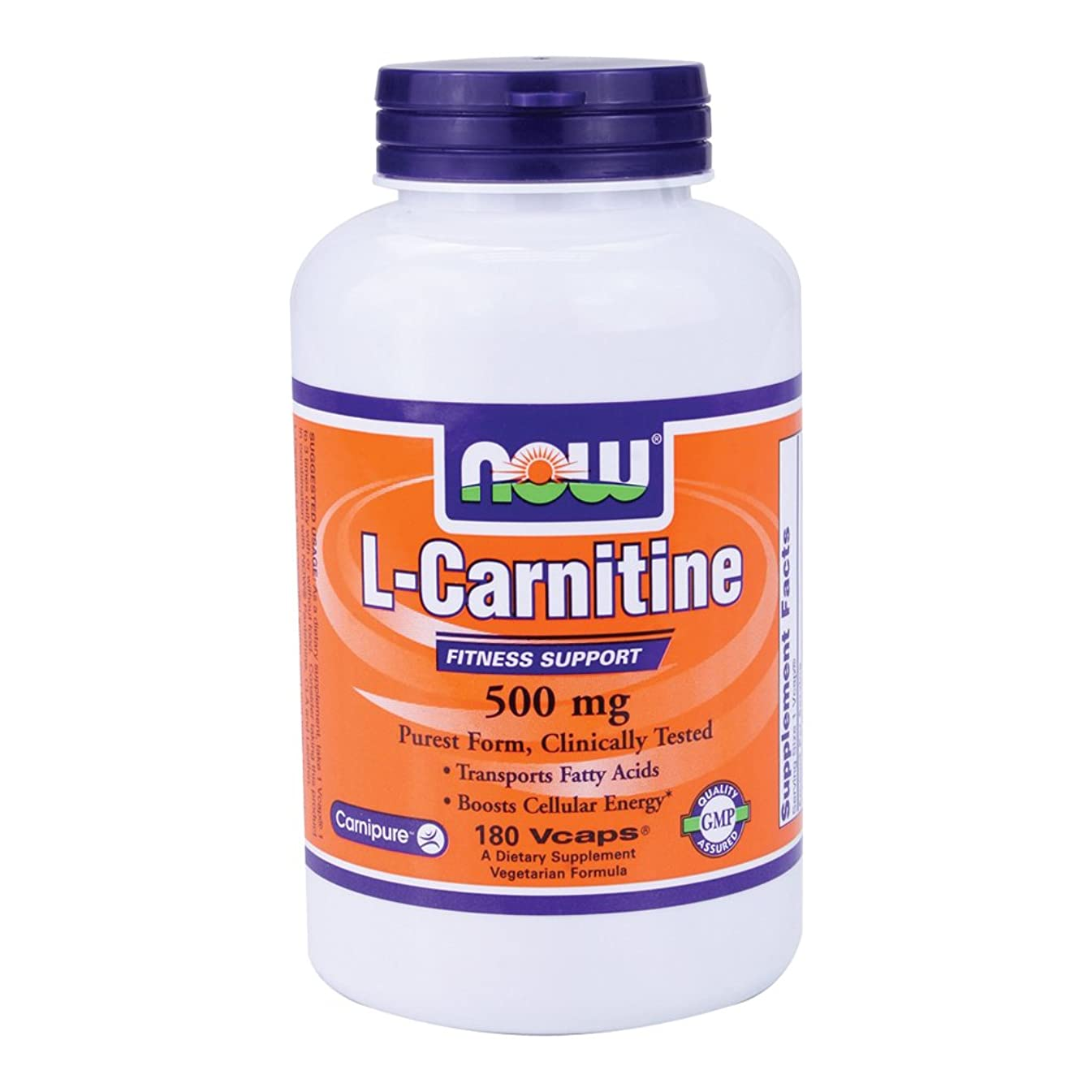 Now Foods L-Carnitine 500 mg - 180 Vcaps 8 Pack