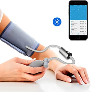 Wireless Bluetooth Upper Arm Blood Pressure Monitor W/Free Professhional APP, Wide Range Cuff, Ultra Portable BP Monitor Mobile Health Monitoring for Home Travel Use