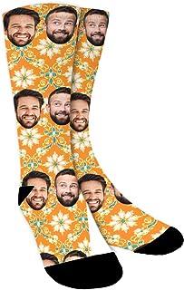 Calcetines Personalizados Con Fotos,Estampados florales,Ponga Su Cara En Calcetines Para Hombres, Mujeres