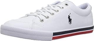 POLO RALPH LAUREN Kids' Edmund Sneaker, White/Navy/Red, Size M035 M US Big Kid US