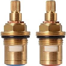 XCSOURCE 1 pair Replacement Brass Ceramic Stem Disc Cartridge Faucet Valve Quarter Turn G1/2