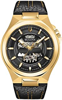 Bulova Men's Analog Automatic Watch with Leather Strap 97A148