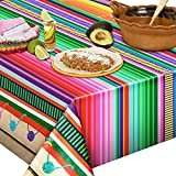 2 Pieces 51.2 x 86.6 Inch Mexican Striped Tablecloth Mexican Fiesta Tablecloth Mexican Serape Blanket Tablecloth Mexican Blanket Striped Tablecloth for Festive Mexican Fiesta Wedding Party Decoration