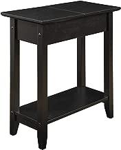 Convenience Concepts 7105059BL 600569 Flip Top End Table, Black