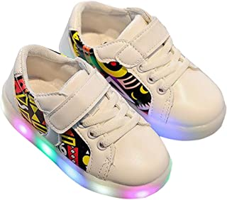LANXI Kids Casual Sneakers LED Light Up Shoes for Girls Boys