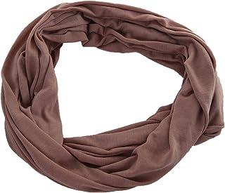 Miobo - Sciarpa ad anello in jersey, unisex, scaldacollo, in diversi colori in tinta unita