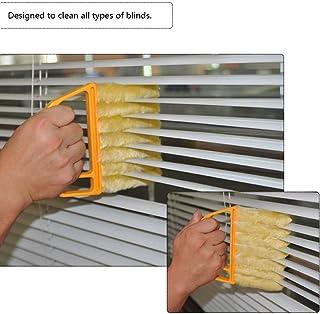 OurLeeme microfibra persianas venecianas cepillo de limpieza limpiador del polvo del plumero de aire acondicionado de ventana Herramienta de limpieza de la suciedad