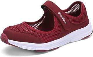SAGUARO أحذية مشي مريحة تسمح بمرور الهواء للسيدات أحذية رياضية أحذية مسطحة خفيفة الوزن