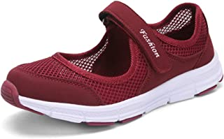 SAGUARO Women's Comfy Breathable Walking Shoes Lady Soft Fashion Mary Jane Sneakers Lightweight Flat Shoes