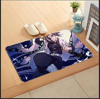 厨房地垫 玄关地垫 防滑 可洗 图案 约40×60厘米 厨房 (恶魔杀手)-Photo_Color_40X60CM