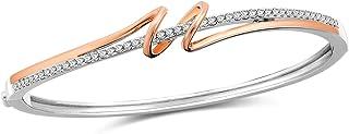 SNZM Bracciale in argento da donna, regalo di gioielli placcato in oro rosa per la festa della mamma,