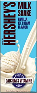 HERSHEY'S Milkshake Vanilla,180ml - Pack of 6, 6 X 180 ml