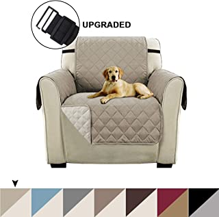 Turquoize Reversible Chair Slipcover Chair Cover Reversible Sofa Cover Furniture Protector with 2