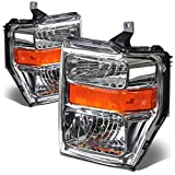 For Ford Super Duty 2nd Gen F250-550 Pair OE Style Chrome Housing Amber Corner Headlight Lamp