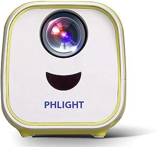 جهاز عرض بروجكتر ضوئي منزلي، 800 لومن، مع منفذ اتش دي ام اي ومنفذ يو اس بي وفتحة بطاقة اس دي، PH-P-4001، اصفر