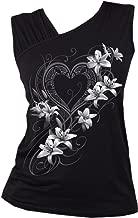 Spiral Womens - Pure of Heart - Gathered Shoulder Slant Vest Black