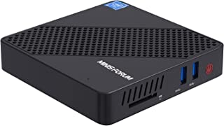 MINISFORUM N40ミニPC Intel Celeron N4020 最大2.8GHz DDR4 4GB 64GB ファンレス パソコン 低電力Windows 10 Pro mini pc UHD 4K@60Hz DIY SSD デュア...