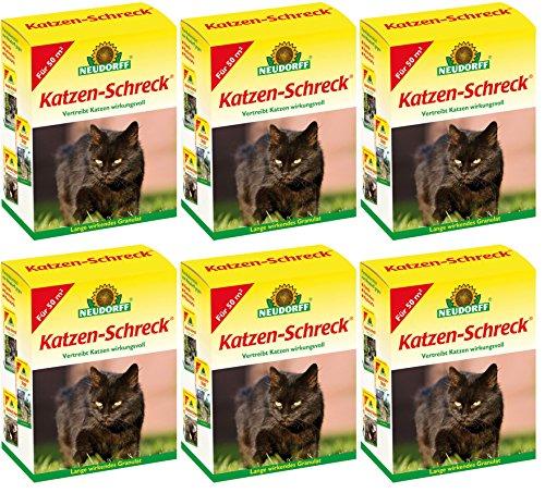 6 x 200 g Neudorff Katzen-Schreck Fernhaltemittel Vergrämungsmittel
